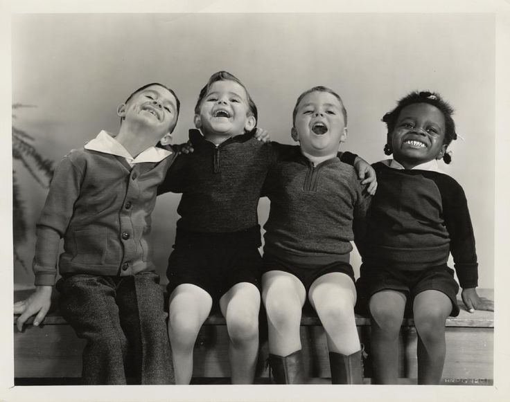 old photo of quartet kid sing - starting off right. Alfalfa, ?, Spanky and Buckwheat.
