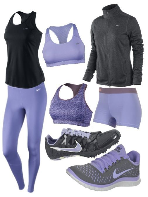 15WO, lavender and black complete Nike outfit