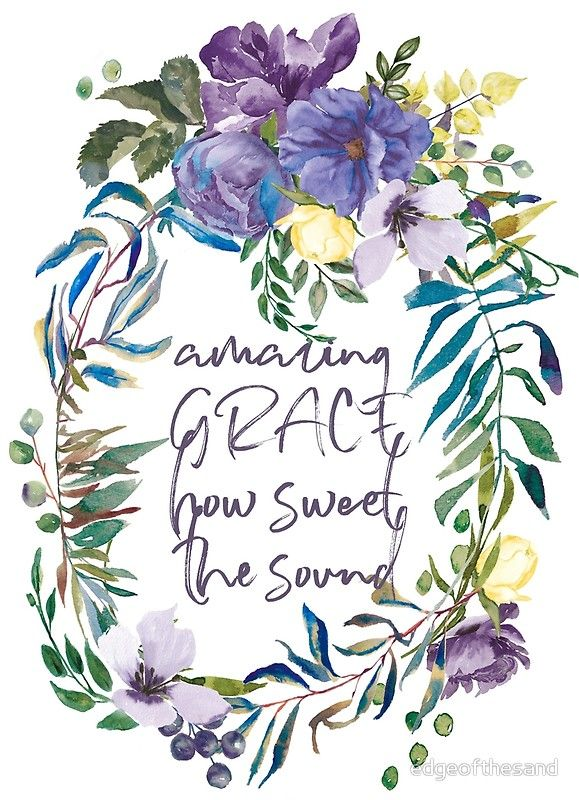 Amazing Grace Flower Watercolour Painting Art Print By