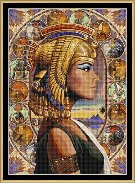 african american cross stitch patterns | Cross Stitch [Egypt pharoah queen] - £1.30 : Witchykitt Designs ...