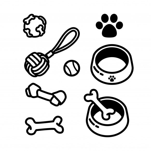 Bone Dog Animal Icon Illustration Puppy Graphic Vector Food Pet Symbol Cartoon Canine Healthy Eat Meal Sign Isola Bone Drawing Free Icons Pets