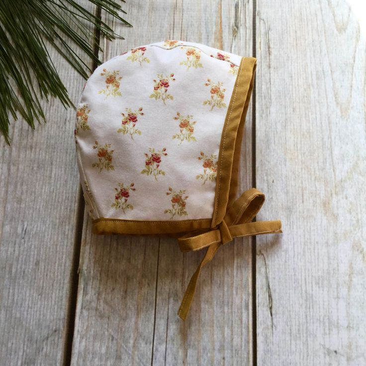 3-6 mo. Baby Bonnet, Floral Baby Bonnet, Modern Bonnet, Brimless Bonnet, Sun Bonnet, Ready To Ship, Baby Accessories, Baby Hat, Toddler Hat by QueeniesKids on Etsy https://www.etsy.com/listing/502644173/3-6-mo-baby-bonnet-floral-baby-bonnet
