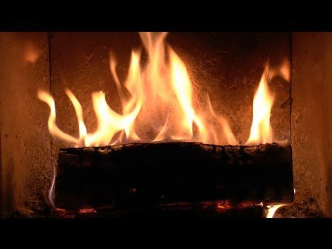 Virtual Fireplace: Wood Burning Stove with Crackling and Metal Clicking Sounds. #fireplace