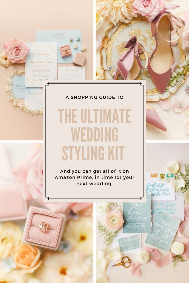 Everything You Need On Amazon For The Ultimate Wedding Styling Kit Must Have Tools For Wedding Photographers To Create Style Kit Wedding Kit Flatlay Styling