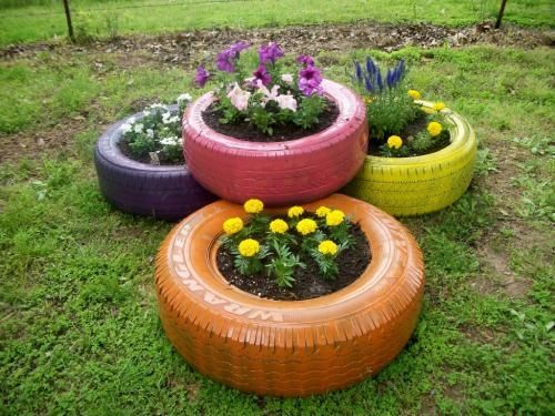Recycle Reuse Renew Mother Earth Projects: Recycled Tire Gardens