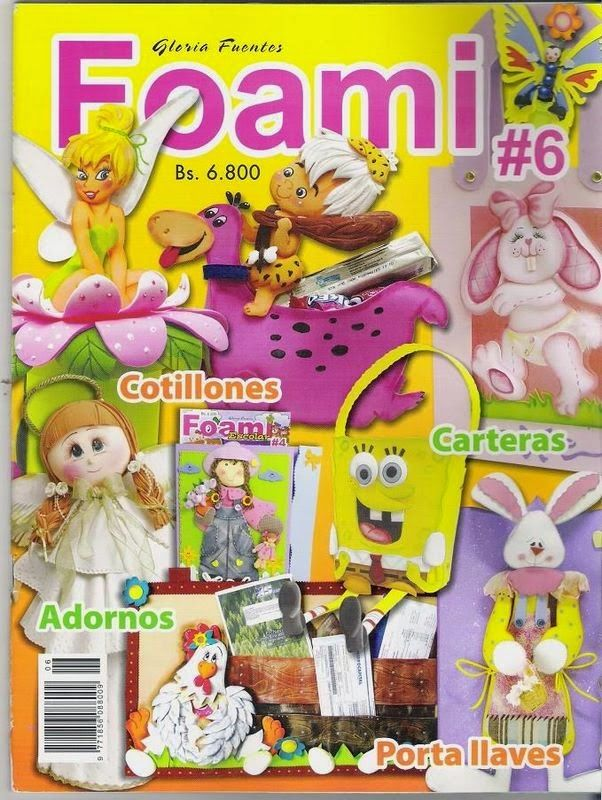 adornos en foami revista gratis - Revistas de manualidades gratis