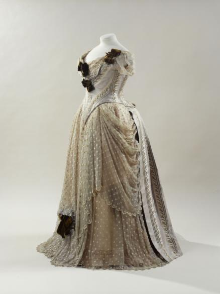 Evening dress, Morin-Blossier designer, French, 1885-89