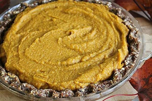 Recipe: Raw Pumpkin Pie.  (would probably try to bake it.. love when the pumpkin kind of holds together)