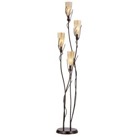 El Dorado 4 Light Torchiere Floor Lamp - #F6018 | Lamps Plus