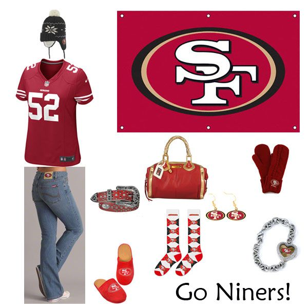 San Francisco 49ers Outfit www.fansedge.com/San-Francisco-49ers-Womens-Apparel-_-2084666365_PG.html?social=pinterest_wwls_niners