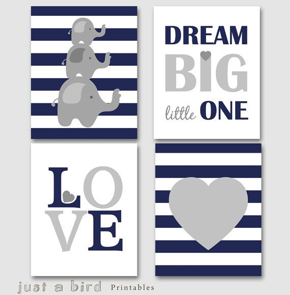 11x14 Dream big little one Set of 4 prints von Justabirdprintables