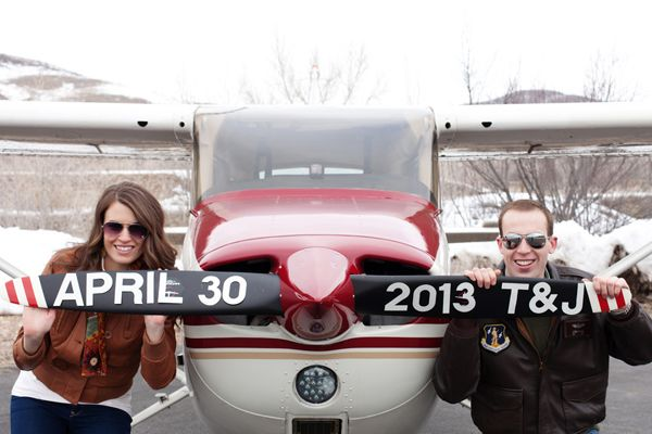 My Love of Small Airplanes + This Adorable Utah Airport Engagement Session