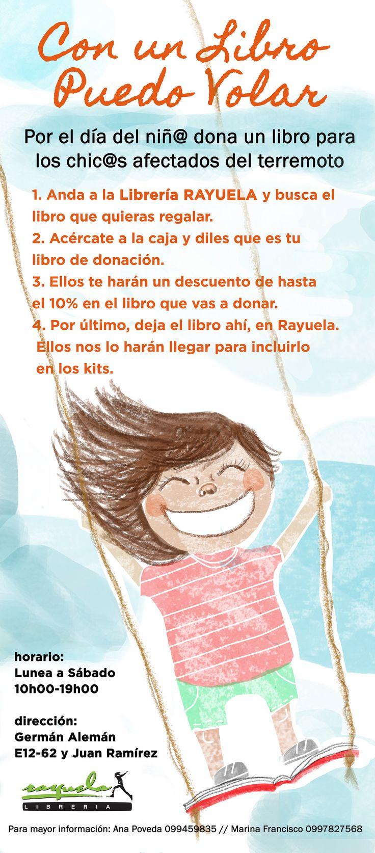 https://flic.kr/p/Hmayrj | Afiche- Con un Libro puedo Volar | afiche para donación de libros  para niños afectados por el terremoto de Ecuador 2016//  poster made to promote book donations for kids afected on Ecuador's earthquate 2016 25may/2016