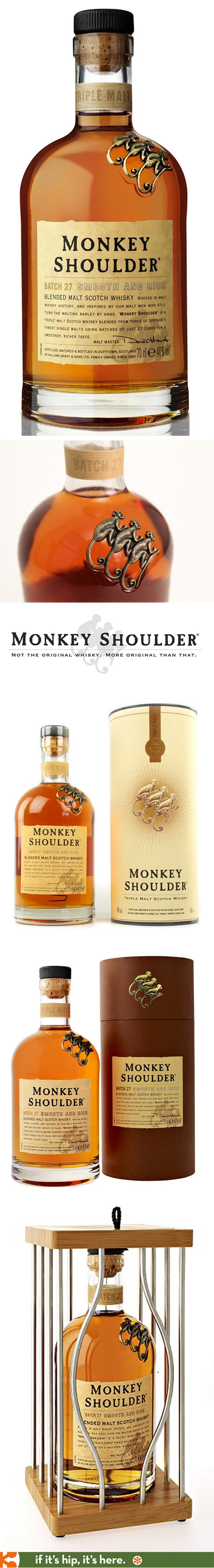 Monkey Shoulder Whisky and its various packaging. -- way to deliver on what you promise!