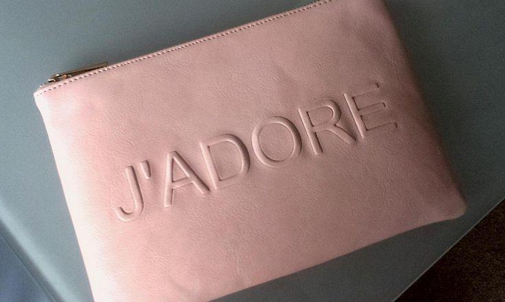 Peach J'adore clutch bag from Miss Selfridge