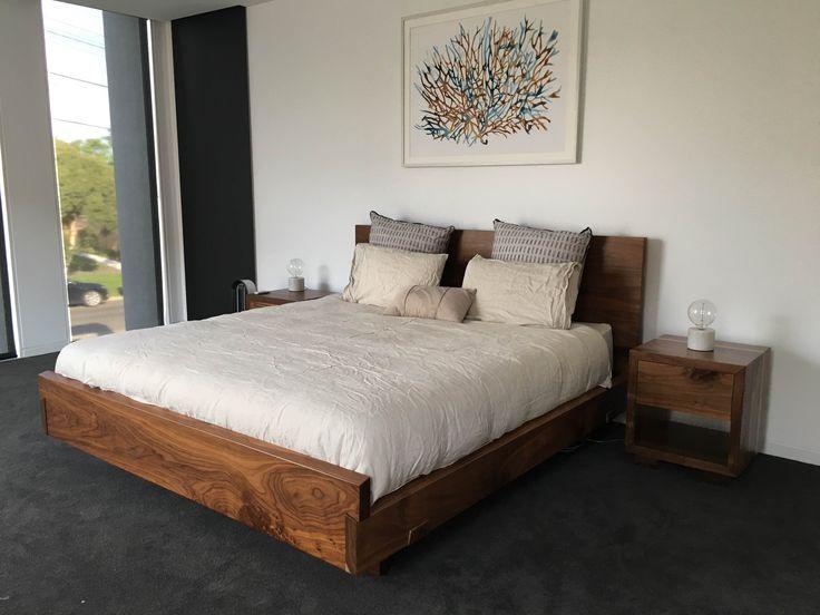 Walnut timber bedroom suite.  www.christiancolefurniture.com.au  #timber #wooden #bedroom #bed #furniture