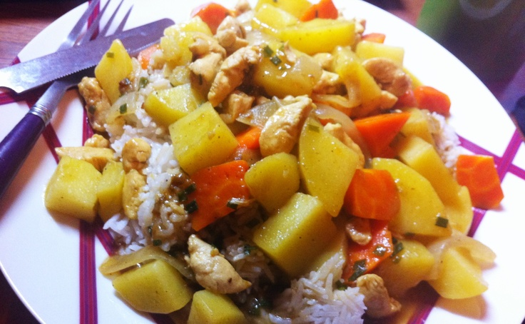 Curry chicken risotto