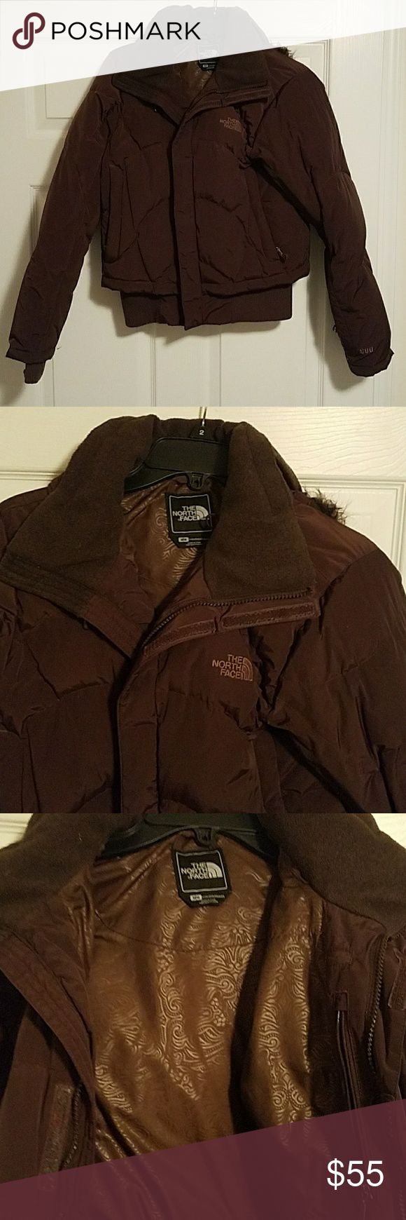 Northface winter coat Dark brown North Face coat. Super warm!!!! Still in great condition. North Face Jackets & Coats Puffers