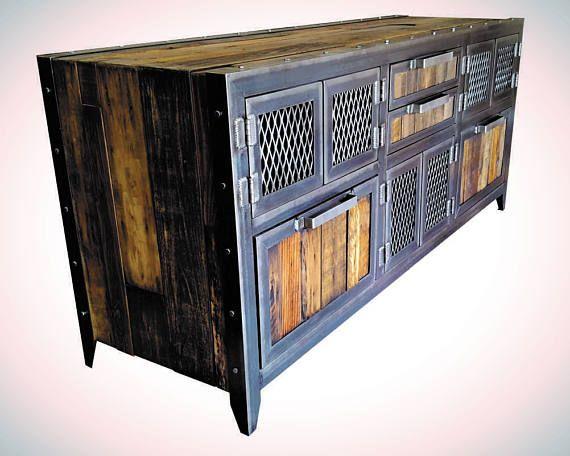 Industrial Buffet/Console  Reclaimed Wood & Steel ...