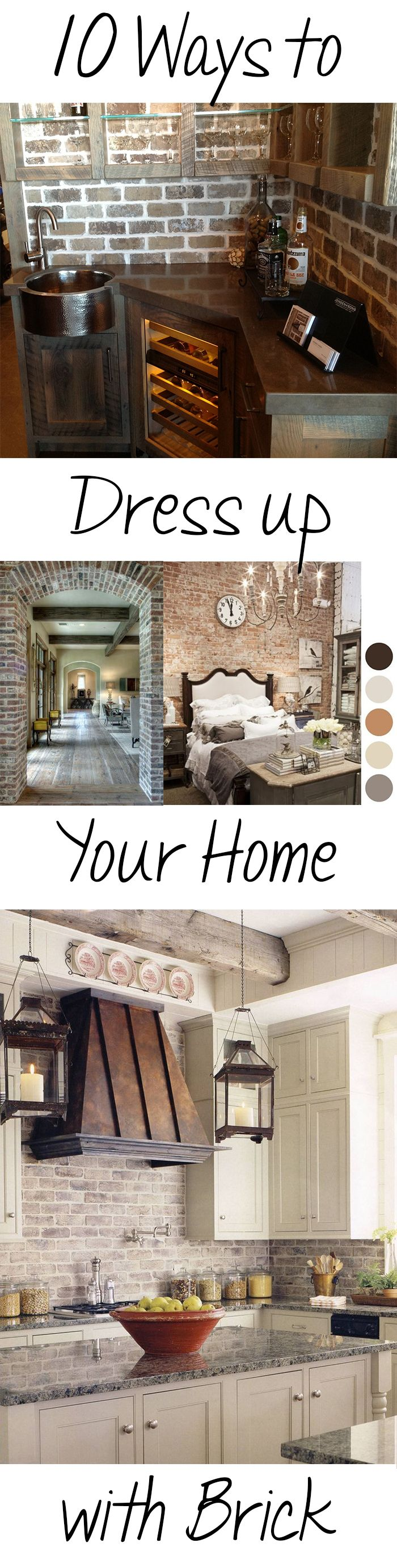 BRICK……. WARM AND WELCOMING, TRADITIONAL AND TIMELESS To me brick is one of the timeless elements of décor.  It never goes out of style and I, for one, NEVER get tired of it. Below are a cou...
