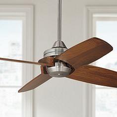 "32"" Casa Vieja™ Pronto Brushed Nickel Ceiling Fan"