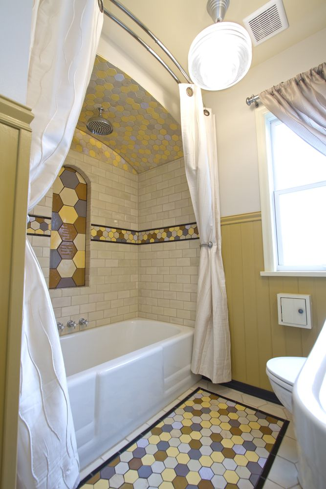 Blue 6x6 Tile Kids Bathroom With Mexican Tile Accent: Fun & Funky Tile On Pinterest