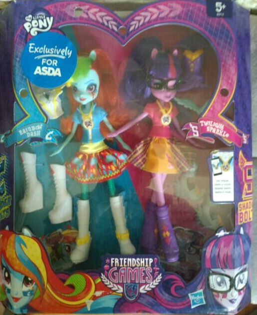 Squishy Toys Asda : MLP Twilight Sparkle and Rainbow Dash ASDA Exclusive Equestria Games Friendship Games 2-pack ...