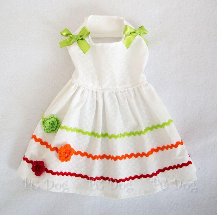 XXS New Bright Summer Colors Dog dress clothes pet aparrel Clothing teacup