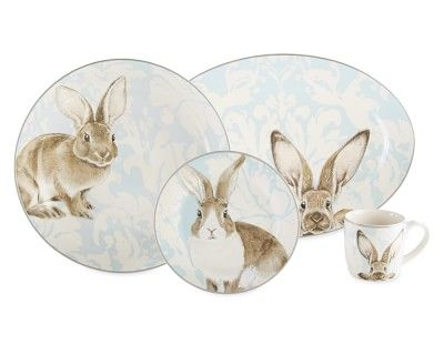 Damask Easter Bunny Collection #williamssonoma