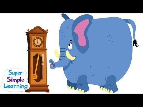 "It's ""Hickory Dickory Dock"" Super Simple style! Because of the ""surprise"" ending, this video is recommended for children 3 and up ^_^. iTunes: http://bit.ly/..."