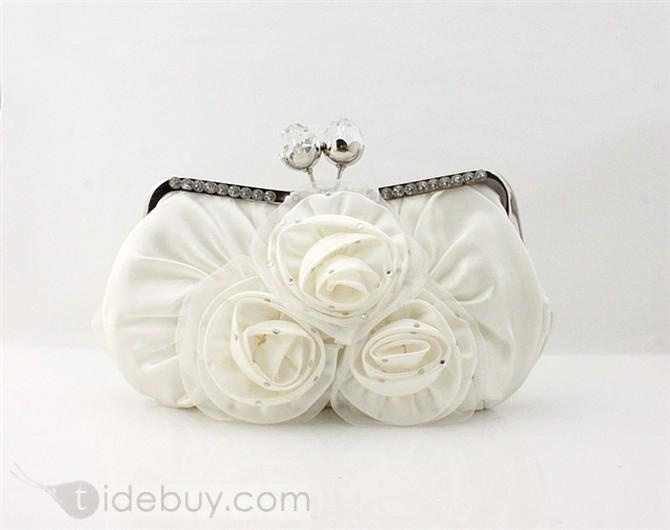 Outstanding Silk Cloth Evening Handbags/Wedding Handbags Available for More Colors   US$33.59