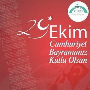 29 Ekim Cumhuriyet Bɑyrɑmımız Kutlu Olsun.  #CumhuriyetBayramı #29Ekim #KutluOlsun