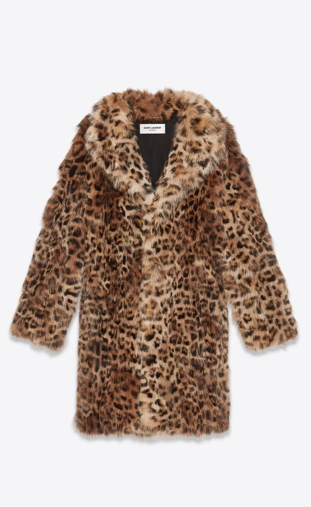 5729108dea29 SAINT LAURENT Coats Man Coat in leopard print fox a V4