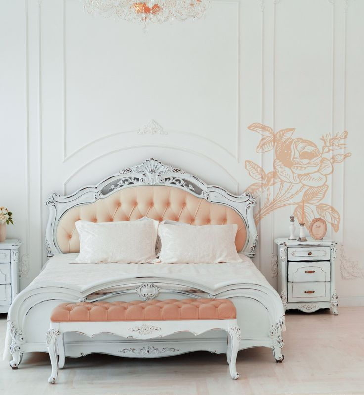 Flowers / roses on wall stickers decals – romantic look for shabby chic bedrooms