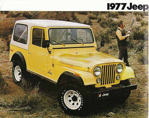 1977 Jeep CJ-7. The new jeeps are UGLY. These, on the other hand, our perfect.