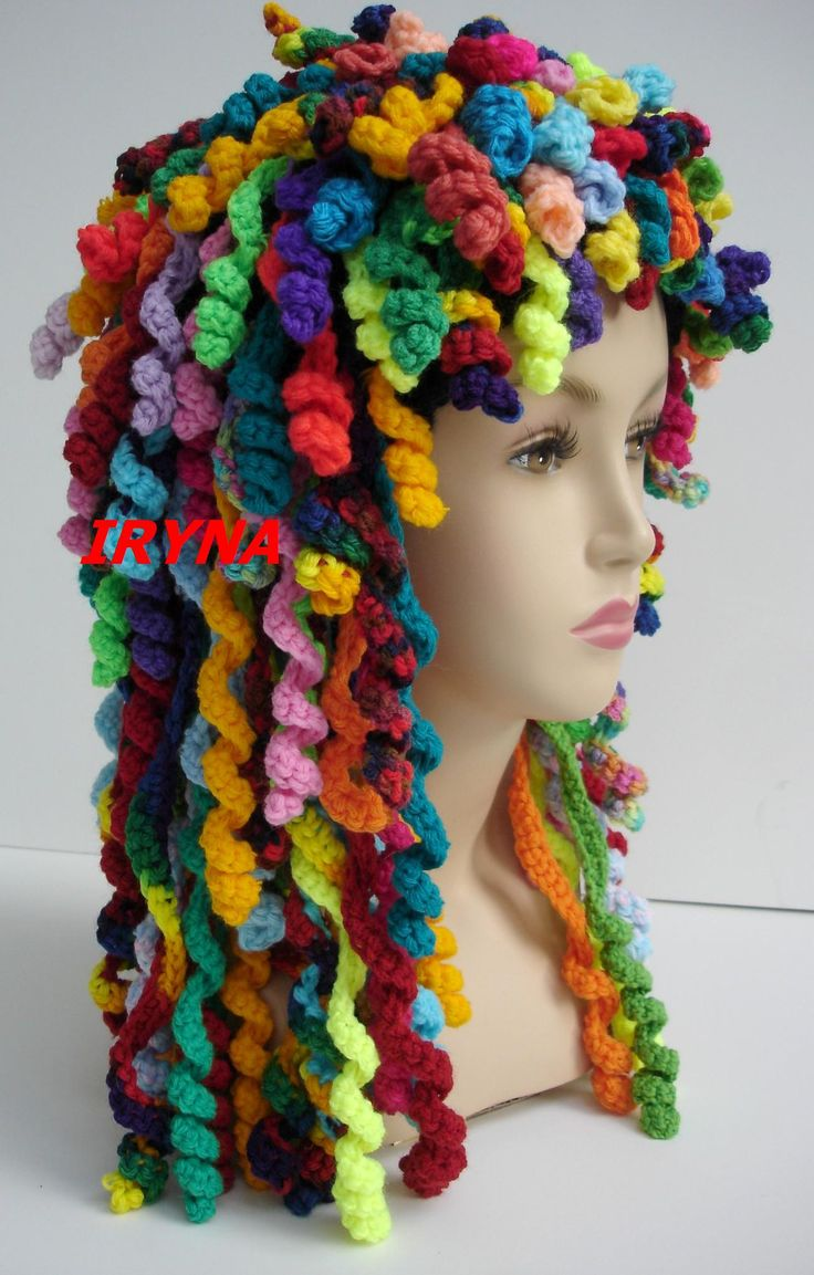 Rag Doll Bonnet.  For inspiration only. No pattern, just an advertisement for her etsy site via Instructables.