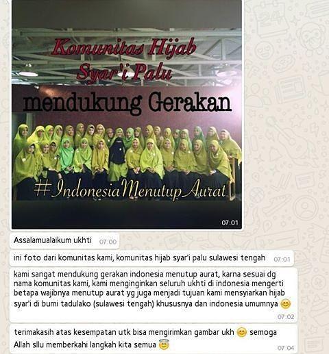 Alhamdulillah... sudah banyak komunitas Hijab Syar'i di daerah-daerah Indonesia... apakah di kota ukhti sudah ada Komunitasnya? . . Yuk Rapatkan barisan kita bergerak bersama ukhti.... . #GerakanMenutupAurat #IndonesiaMenutupAurat . #Follow and #Support @indonesiamenutupaurat