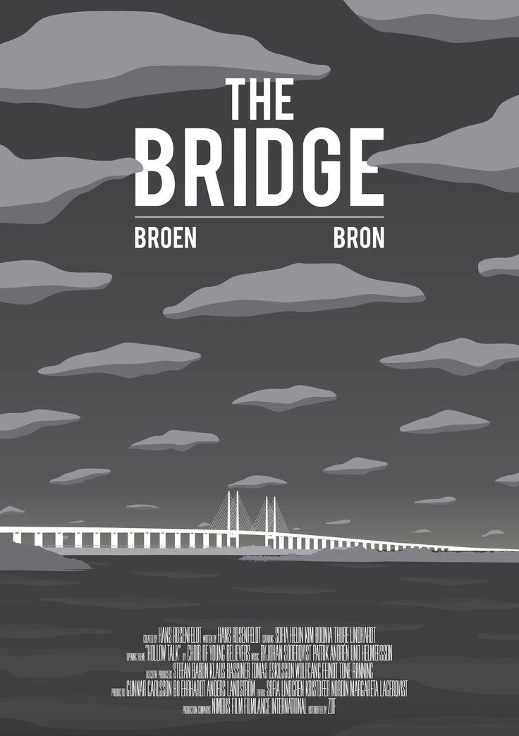 the bridge, conceptual, illustration, vector, flat, graphic, movie, tv series, poster, print, denmark, sweden, federico gastaldi, salzman international, Federico Gastaldi  ©