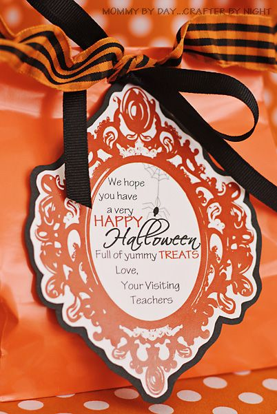 Give a neighbor/friend a treat with this free printable!: Teacher Treats, Halloween Costumes, Free Halloween, Halloween Gifts, Costumes Halloween, Halloween Tags, Visit Teaching, Halloween Treats, Free Printable
