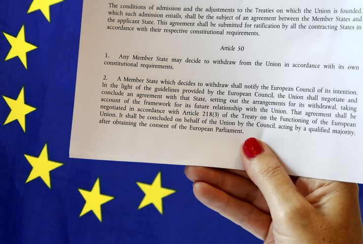 EU Council President Donald Tusk was formally notified Monday that the British PM will trigger the Brexit process on March 29th by initiating article 50 of the EU treaty