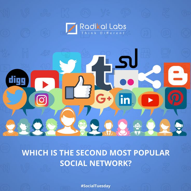 Which is the second most popular social network? Share your answer in the comments section! #TuesdayTrivia