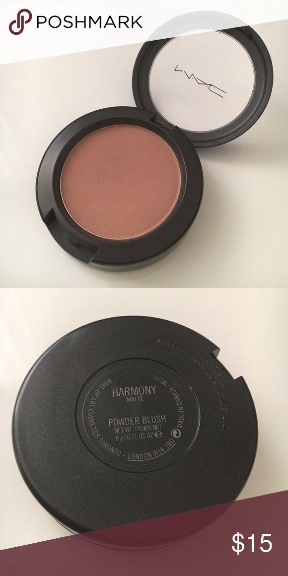 mac | 'harmony' blush used 2x. can be used as blush or contour. MAC Cosmetics Makeup Blush
