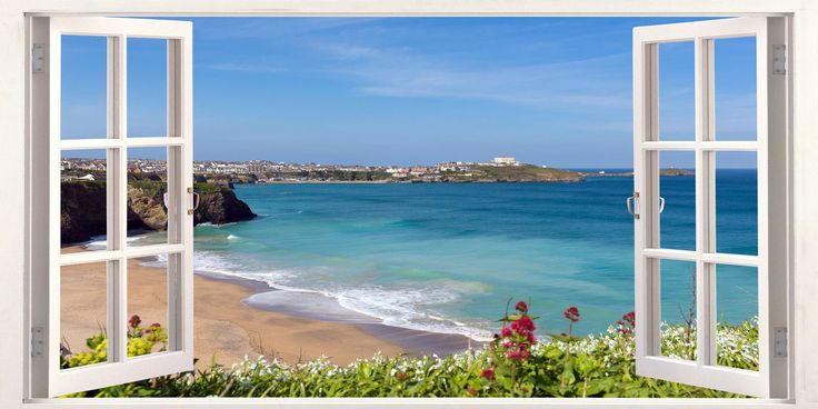 #Cornwall newquay surfing #beach 3d effect window canvas #picture wall art prints,  View more on the LINK: 	http://www.zeppy.io/product/gb/2/162075716936/
