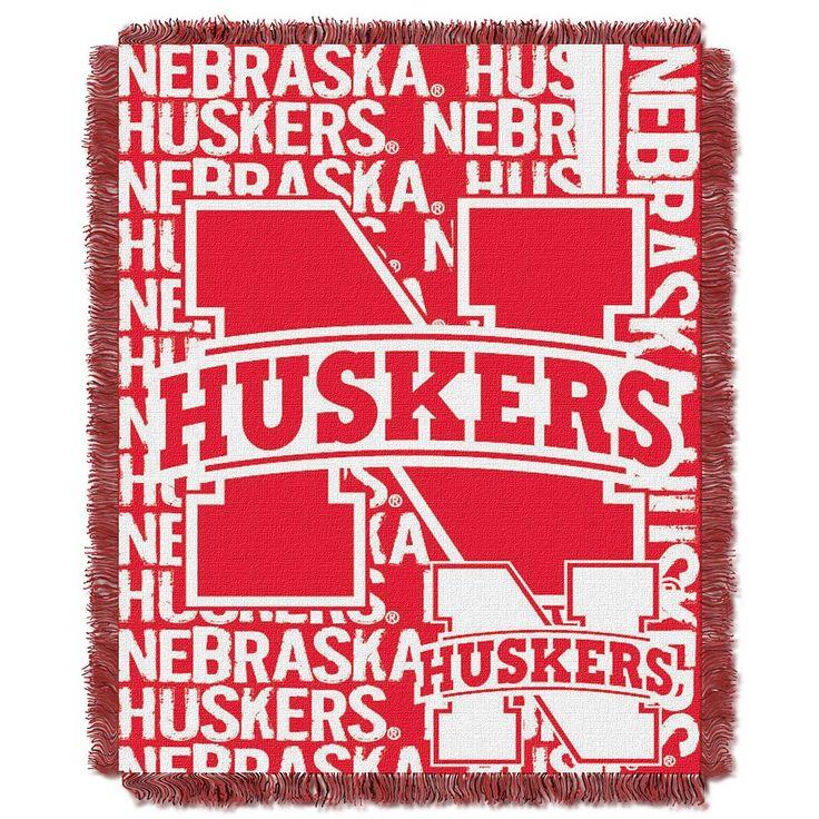 Nebraska Cornhuskers Jacquard Throw Blanket by Northwest, Multicolor
