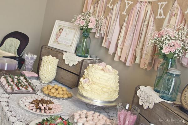 Shabby Chic Girl Vintage 1st Birthday Party Planning Ideas