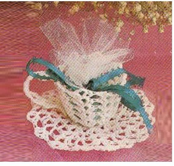 Crochet Wedding Gift Patterns: Crochet Tea Cup Pattern Vintage 70s Crochet Wedding Favor