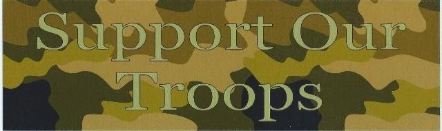 "10"" x 3"" Camo Support Our Troops Bumper Sticker Decal Car Window Stickers Decals"