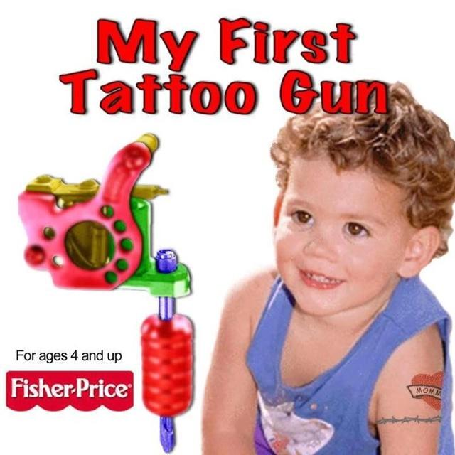 My 1st Tattoo gun: Baby Tattoo, First Tattoo, Heart Tattoo, Children Toys, Tattoo Patterns, Funny Tattoo, Tattoo Guns, Ink, Kids Toys