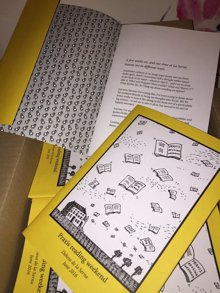 """Nick Parker on Twitter: """"My booklet about the Praxis Reading Weekend is back from the printers. A very lovely print job by @ThisisProCo :-) https://t.co/JcH4uMrJZi"""""""