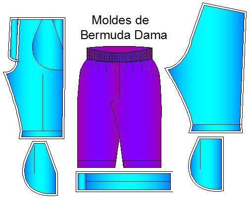 Moldes de Bermudas para Dama. Los moldes las bermudas para dama están en formato Cad .dwg listos para que los imprimas en plóter en tamaño real. Son 8 tallas que puedes seleccionar: XS, S, M, L, XL…